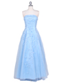 4002 Baby Blue Laced Embroidery Prom Gown - Baby Blue, Front View Thumbnail