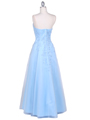4002 Baby Blue Laced Embroidery Prom Gown - Baby Blue, Back View Thumbnail