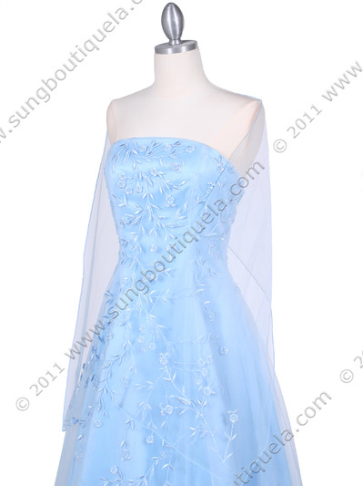 4002 Baby Blue Laced Embroidery Prom Gown - Baby Blue, Alt View Medium