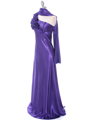 Purple One Shoulder Evening Dress - Alt Image
