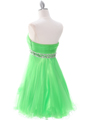 Green Homecoming Dress - Back Image