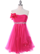 Hot Pink Homecoming Dress