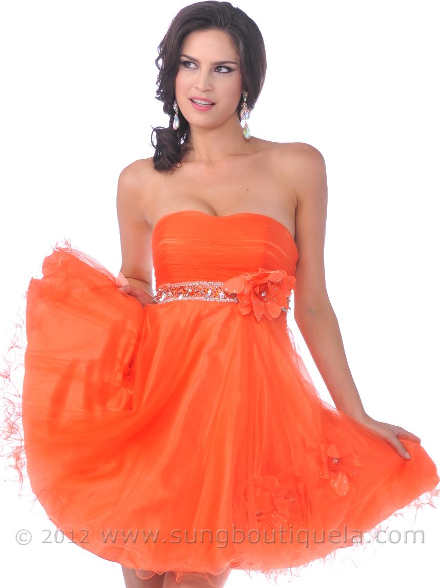 Orange Cocktail Dress  Sung Boutique L.A.