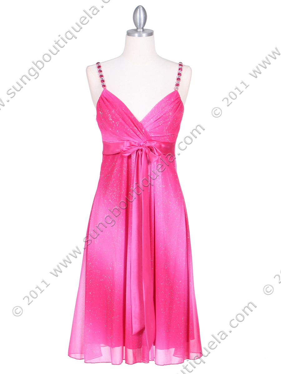 Hot Pink Glitter Party Dress Sung Boutique L A