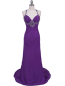 Purple Chiffon Prom Evening Dress