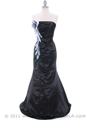Black Evening Dress - Front Image