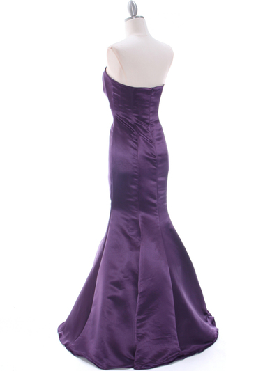 4024 Purple Bridesmaid Dress - Purple, Back View Medium