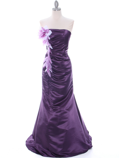 4024 Purple Bridesmaid Dress - Purple, Front View Medium