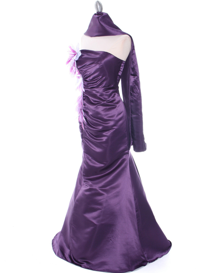 4024 Purple Bridesmaid Dress - Purple, Alt View Medium