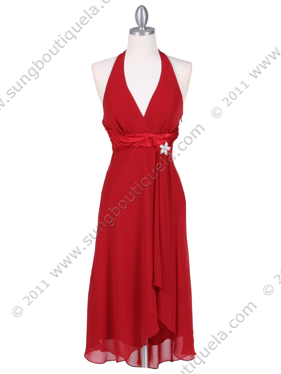 Deep Red Cocktail Dress | Sung Boutique L.A.