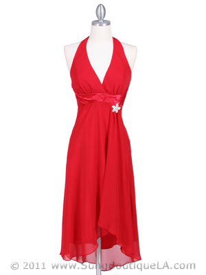 4230 Red Cocktail Dress, Red
