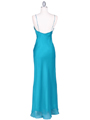 4268 Teal Illusion Evening Gown - Teal, Back View Thumbnail