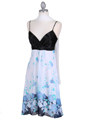 4419 Black Blue Chiffon Print Dress - Black Blue, Alt View Thumbnail