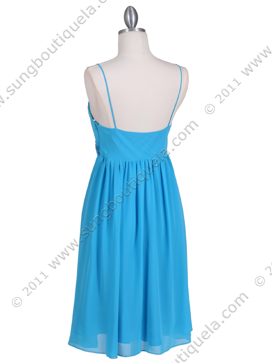 turquoise beaded cocktail dress sung boutique la