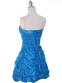 Dark Turquoise Taffeta Cocktail Dress - Back Image