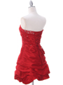 Red Taffeta Cocktail Dress - Back Image