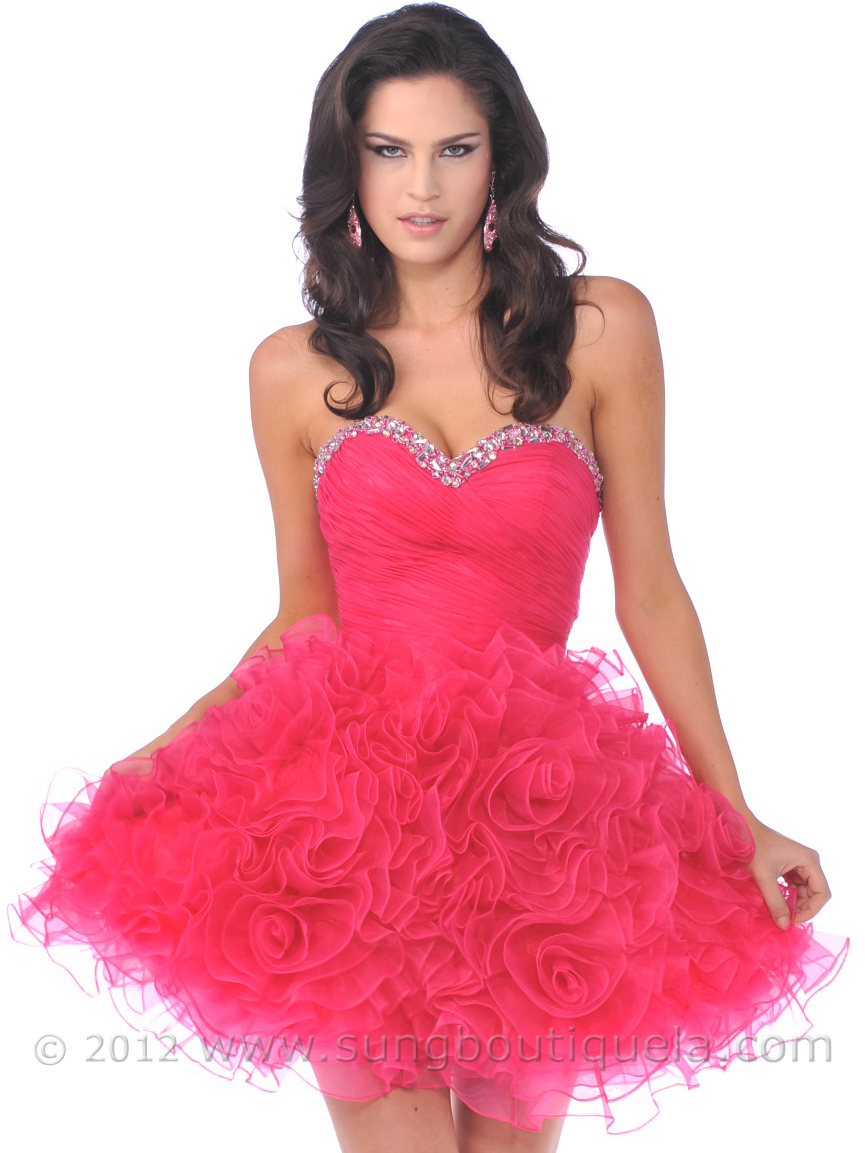 Hot Pink Short Prom Dresses | Cocktail Dresses 2016