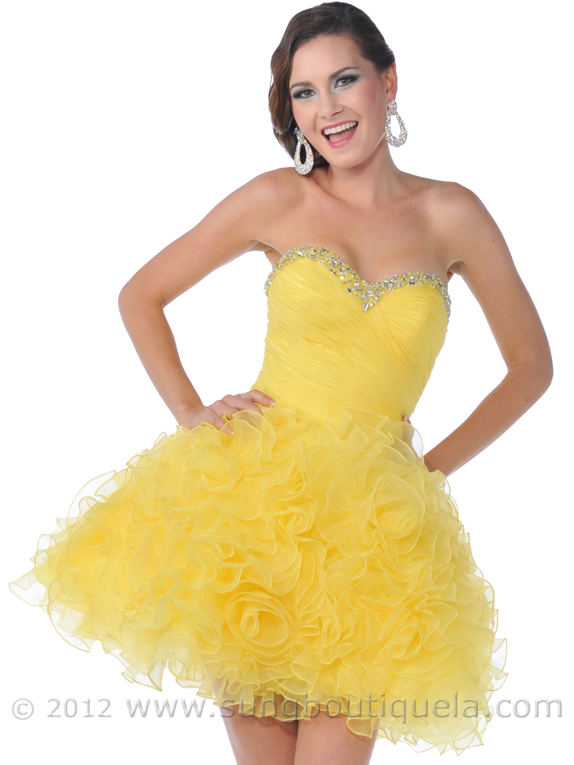 Strapless Short Prom Dress  Sung Boutique L.A.