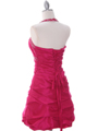 Fuschia Tafetta Beaded Homecoming Dress - Back Image