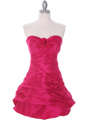 Fuschia Taffeta Homecoming Dress - Front Image
