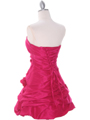 Fuschia Taffeta Homecoming Dress - Back Image