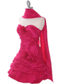 Fuschia Taffeta Homecoming Dress