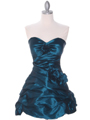 4513 Jade Taffeta Homecoming Dress - Jade, Front View Thumbnail