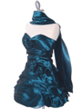 4513 Jade Taffeta Homecoming Dress - Jade, Alt View Thumbnail
