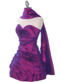 4513 Purple Taffeta Homecoming Dress - Purple, Alt View Thumbnail