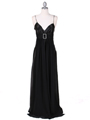 4624 Black Satin Evening Gown