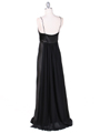 4624 Black Satin Evening Gown - Black, Back View Thumbnail