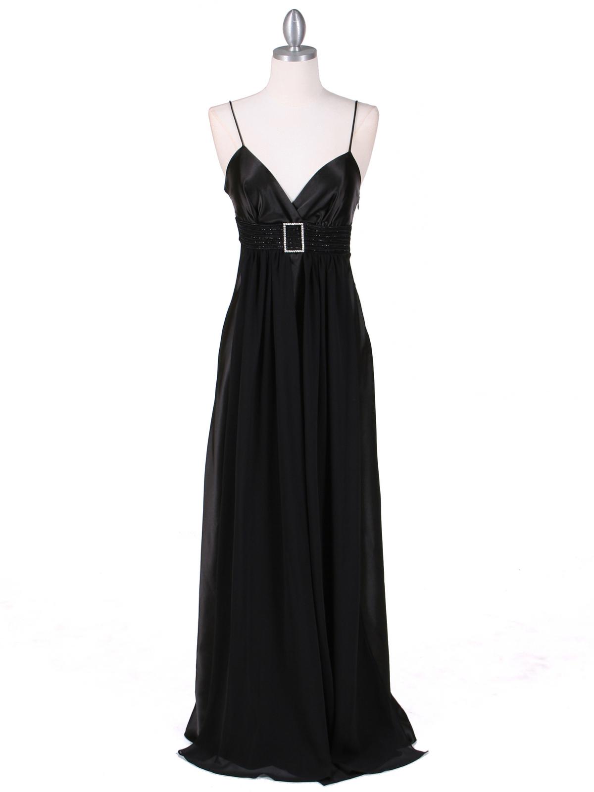 Black Satin Evening Gown | Sung Boutique L.A.
