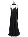 4624 Black Satin Evening Gown - Black, Alt View Thumbnail
