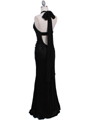 4760A Black Halter Evening Dress - Black, Back View Thumbnail