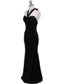 4760A Black Halter Evening Dress - Black, Alt View Thumbnail