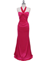 4760A Hot Pink Halter Evening Dress