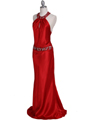 4838 Red Beaded Evening Dress - Red, Alt View Thumbnail