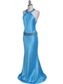 4838 Turquoise Beaded Evening Dress - Turquoise, Alt View Thumbnail