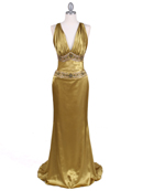 Olive Charmuse Beaded Evening Gown