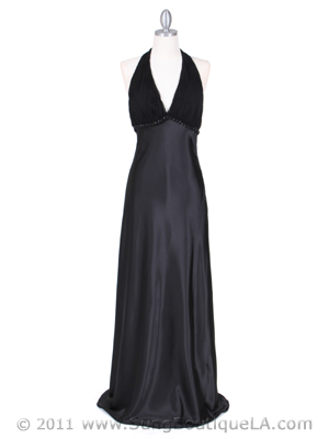 4939 Black Evening Dress, Black