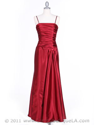 4940 Wine Strapless Evening Dress, Wine