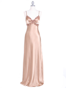 Gold Sequins Charmeuse Evening Dress