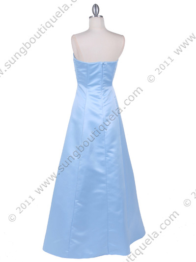 4987 Baby Blue Prom Dress - Baby Blue, Back View Medium