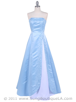 4987 Baby Blue Prom Dress, Baby Blue