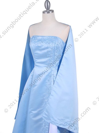 4987 Baby Blue Prom Dress - Baby Blue, Alt View Medium