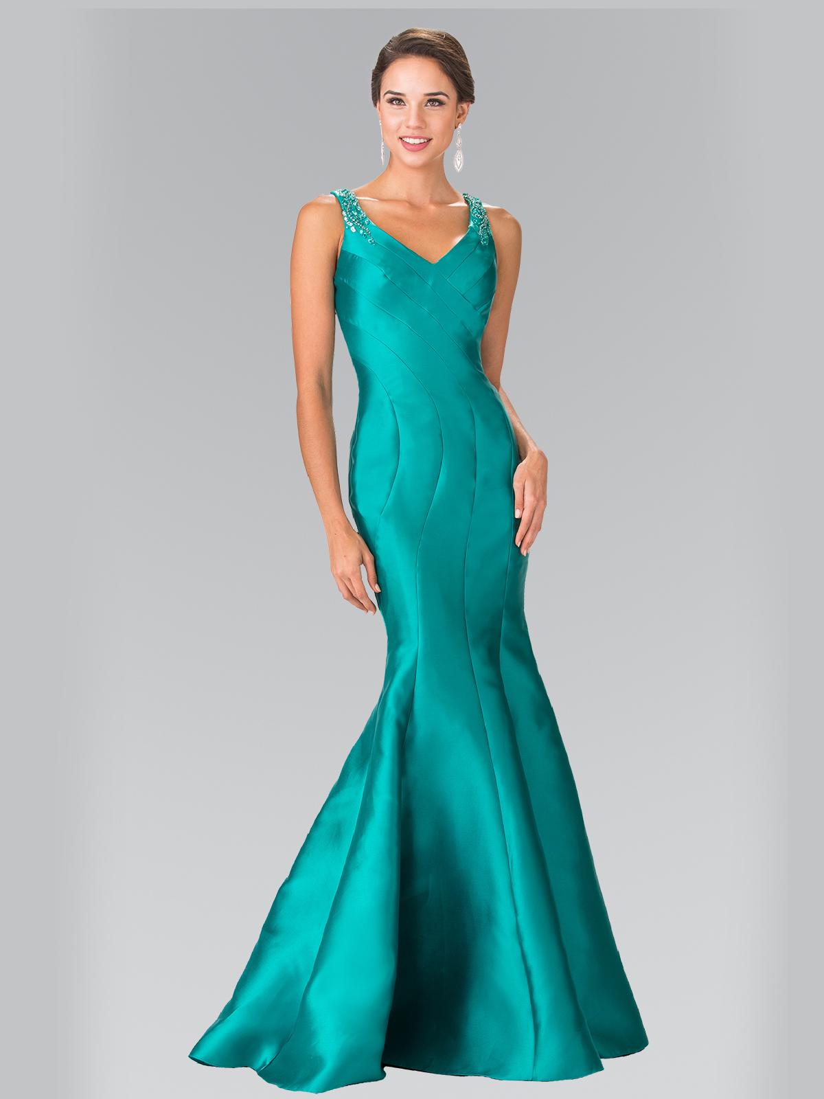 Sleeveless Long Evening Dress with Trumpet Hem | Sung Boutique L.A.