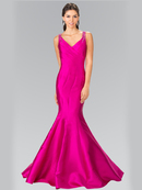 50-2212 Sleeveless Long Evening Dress with Trumpet Hem, Magenta