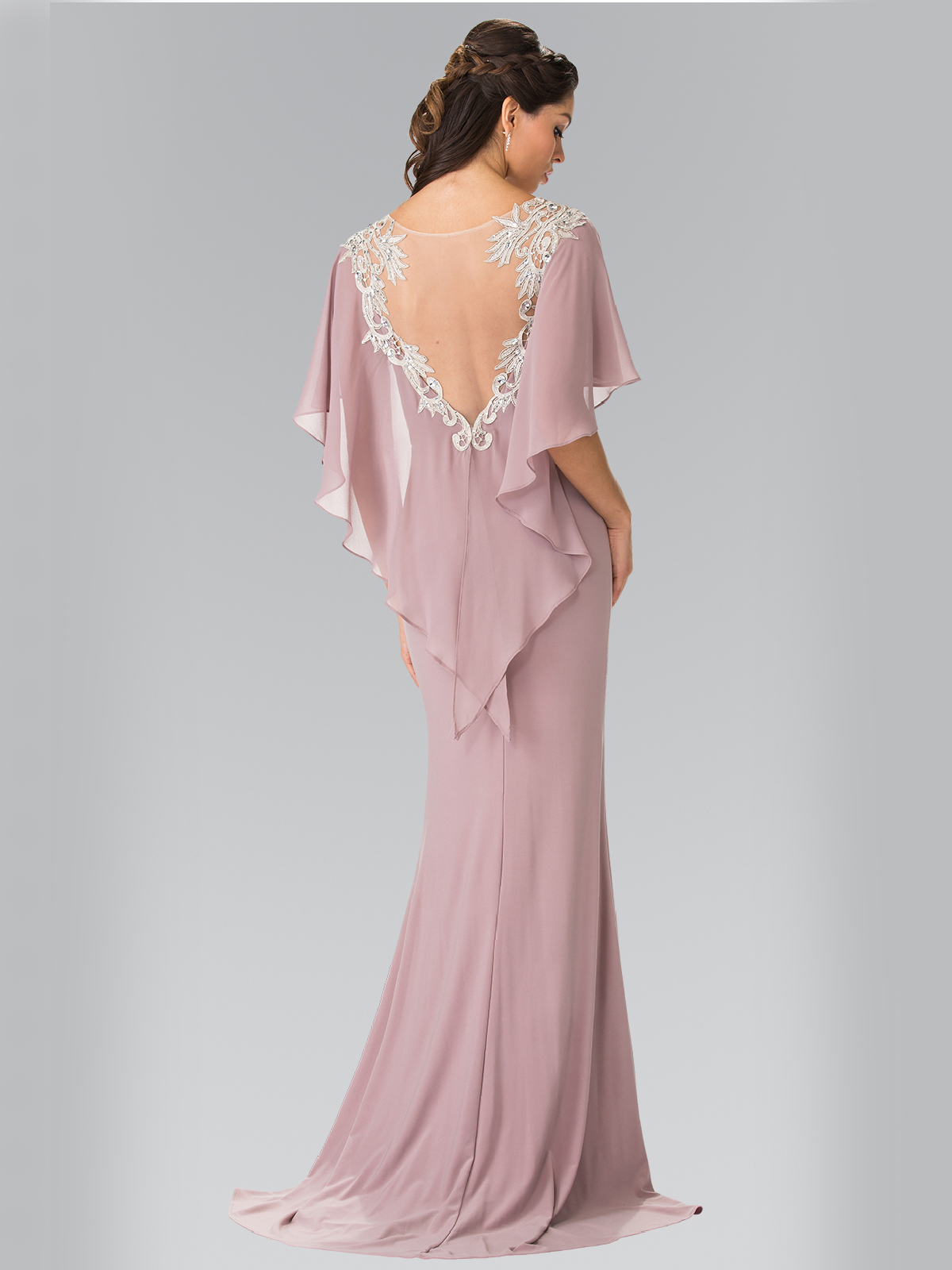 Long Evening Dress With Cape Sung Boutique L A