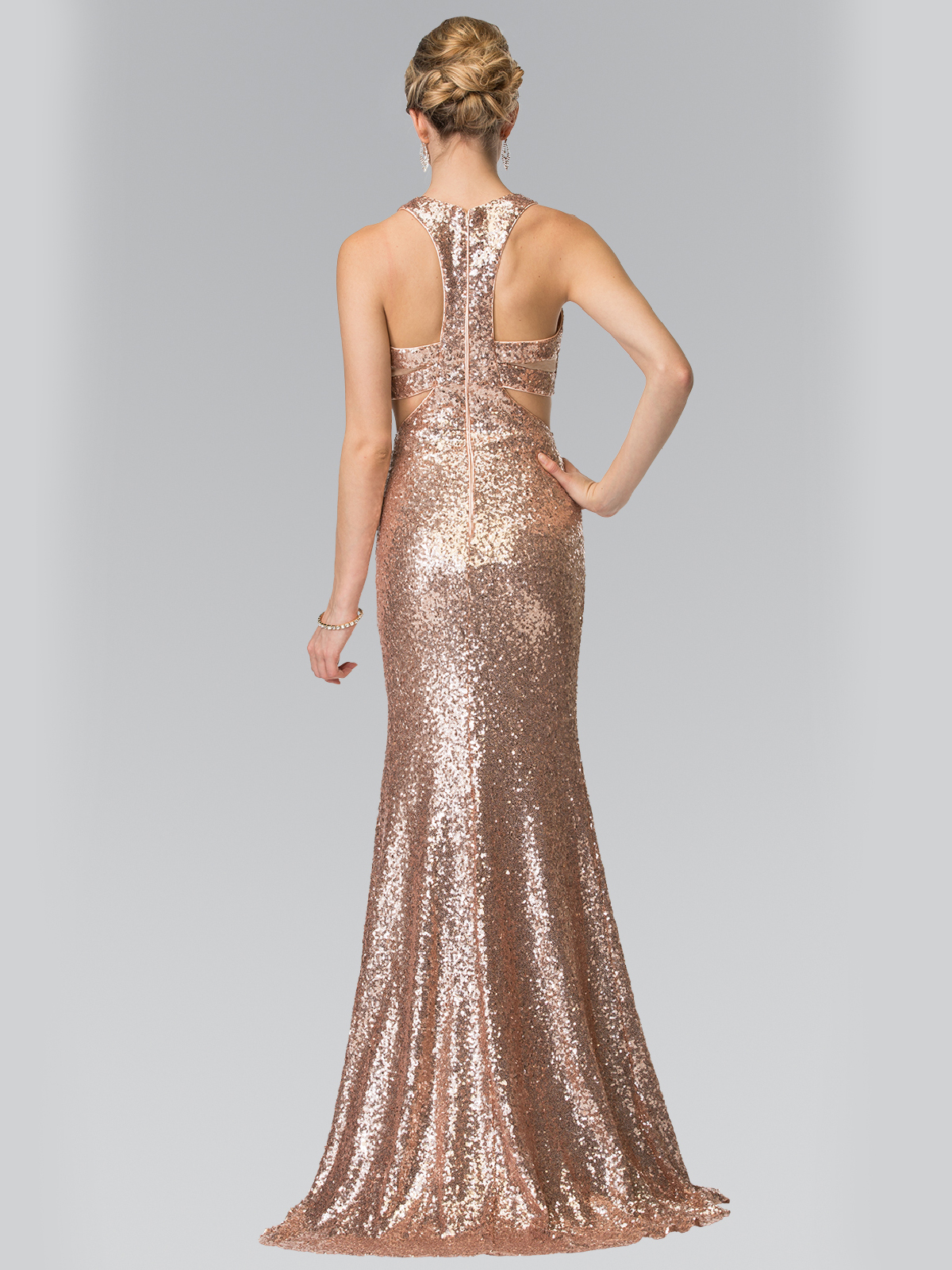mock twopiece sequin long prom dress sung boutique la
