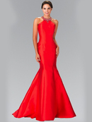 50-2353 High Neck Mermaid Long Prom Dress, Red